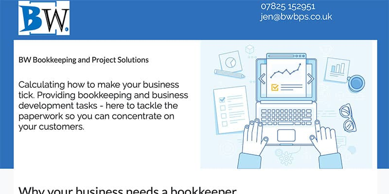 BW Bookkeeping | Responsive single-page website design