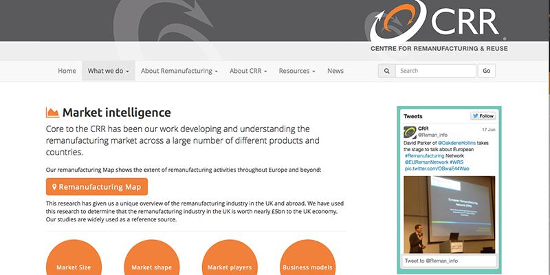 Bootstrap responsive website for 'Remanufacturing in the UK' (Aylesbury consultancy)