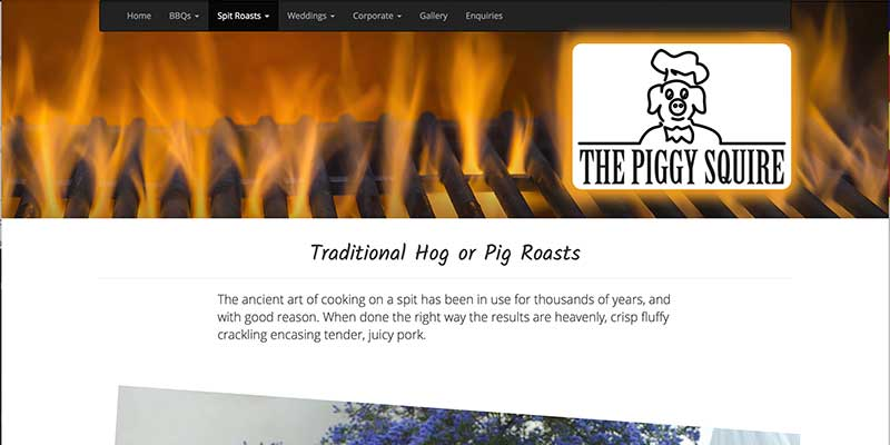 The Piggy Squire Pig Roasts Catering Website