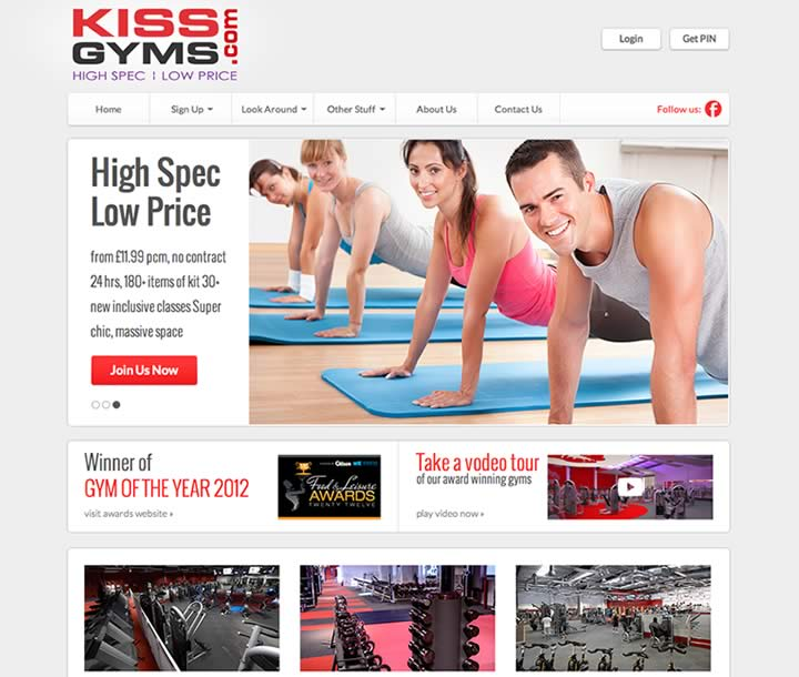 Sports and gym website design
