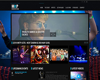 Music event print and website design
