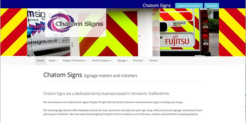 Chatom SIgns eCommerce website