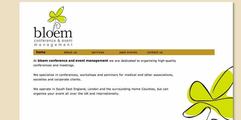 Conference event management website design