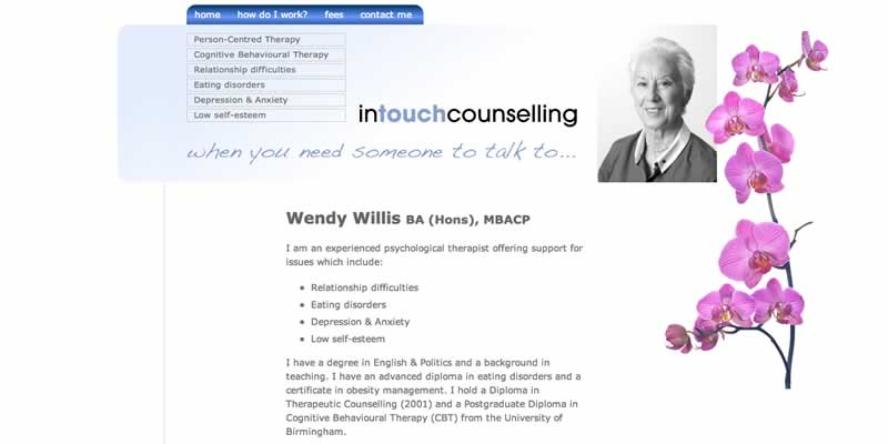 Counselling website design
