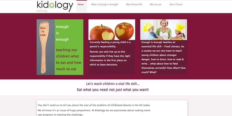 Child obesity website