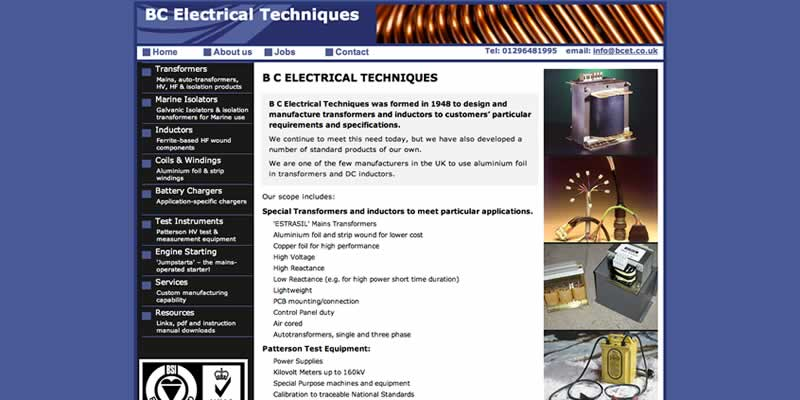 Electrical engineering website design