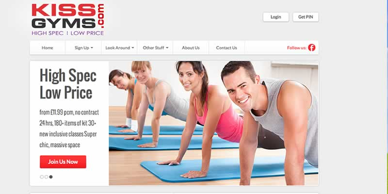 Gym website design
