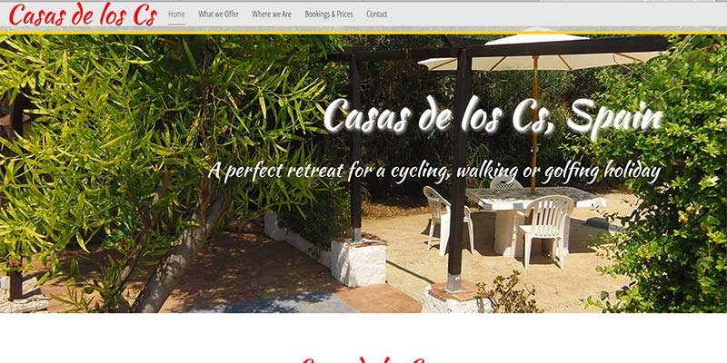 Holiday booking website