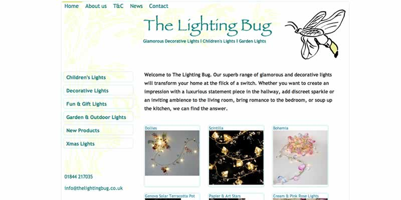 Lighting ecommerce website design