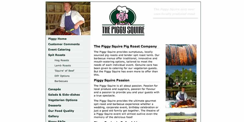 Pig Roast website for small business in Bicester