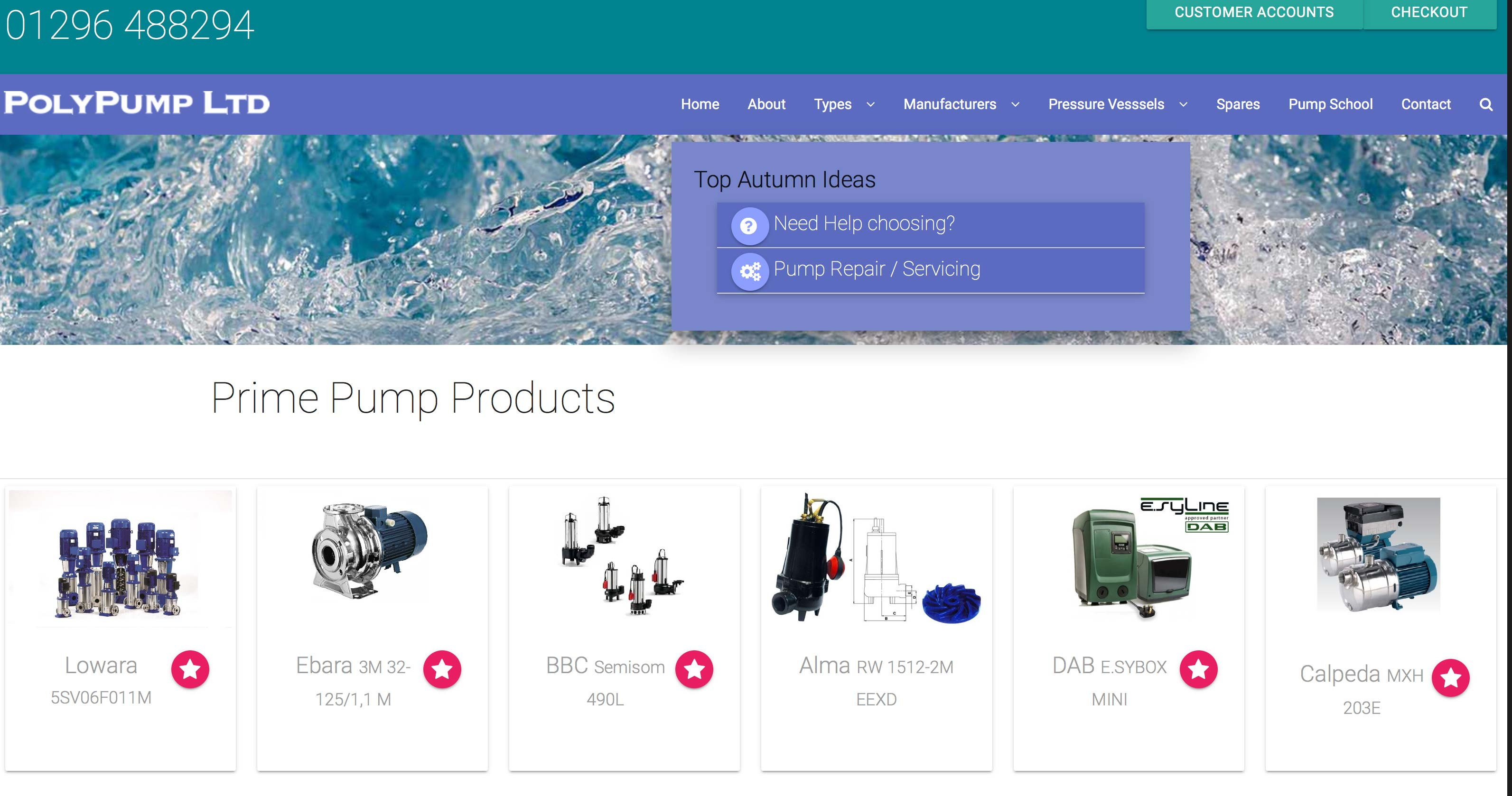Ecommerce website for aylesbury industrial pump supplier for Industrial design sites