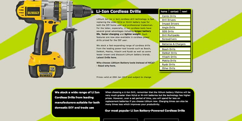 Power tools website