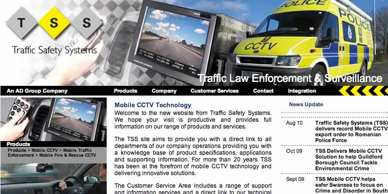 Traffic management website design
